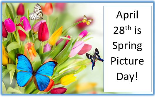 Spring Picture Day is April 28th